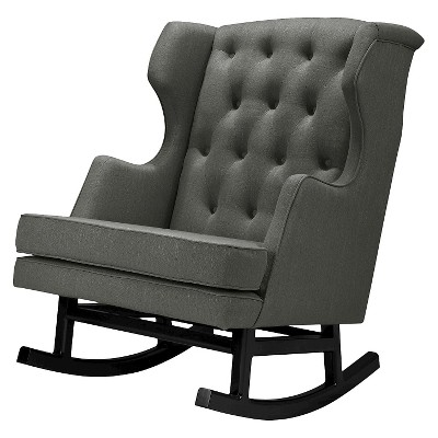 Nursery Works Empire Rocker - Dark Legs - Charcoal
