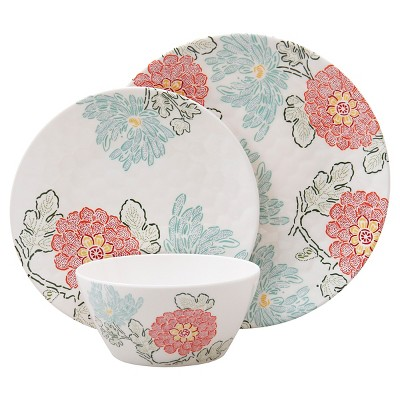 Threshold™ Floral 12 Piece Dinneware Set