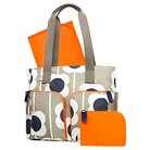 Orla Kiely Diaper Bag Tote - Tan Large Floral Print