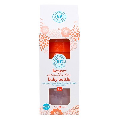 Honest Company Baby Bottle Coral