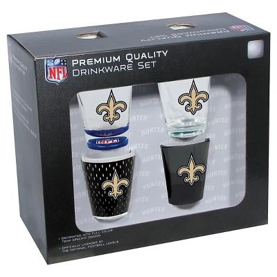 New Orleans Saints Shot Glass 4pc