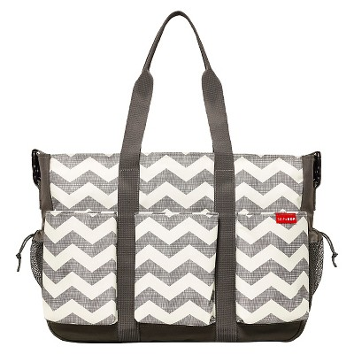 Skip Hop Duo Double Deluxe Hold-it-All Diaper Bag, Chevron