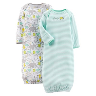 Just One You™Made by Carter's® Newborn 2 Pack Gown Set - Iced Green NB