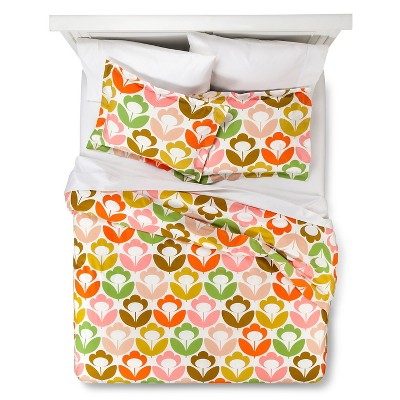 Orla Kiely Poppy Meadow Duvet Cover Set - Multicolor (Full/Queen)