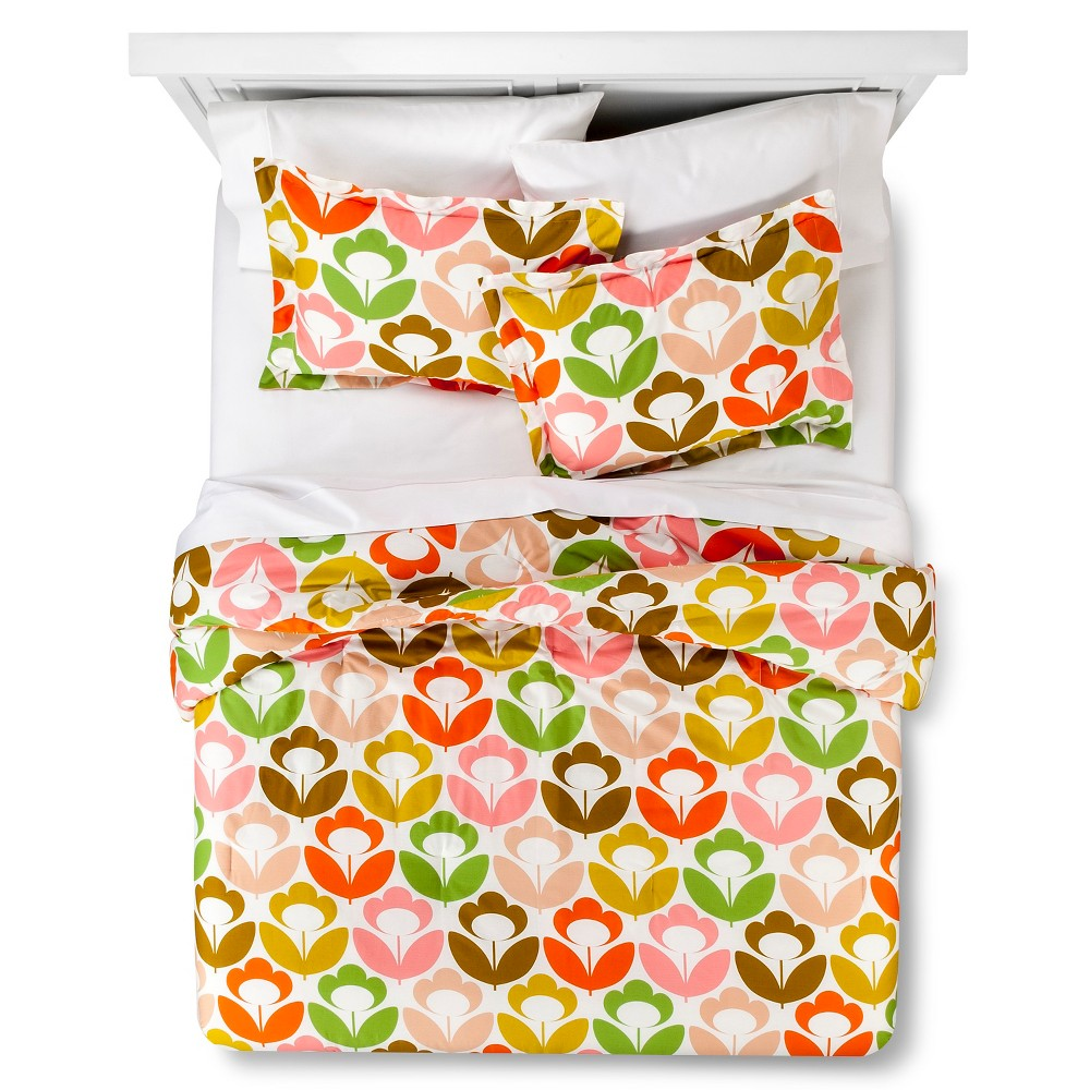 Orla Kiely Poppy Meadow Comforter Set - Multicolor (Full/Queen)