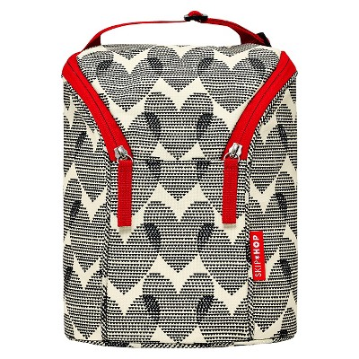 Skip Hop Grab and Go Double Bottle Bag, Hearts