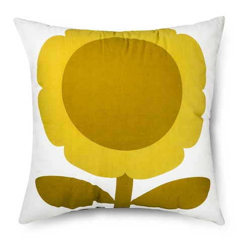 Orla Kiely Yellow Sunflower Decorative Pillow - ... : Target