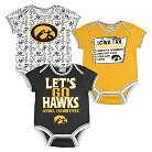Iowa Hawkeyes Boys Body Suit 0-3M