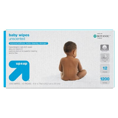 Unscented Baby Wipes 1200 ct - up & up™