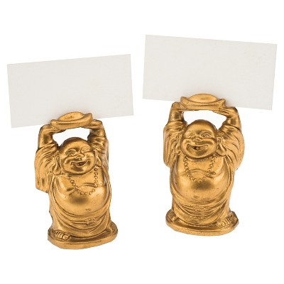 """Kate Aspen """"Laughing Buddha"""" Place Card Holder - As Seen in Instyle Magazine– Set of 12"""