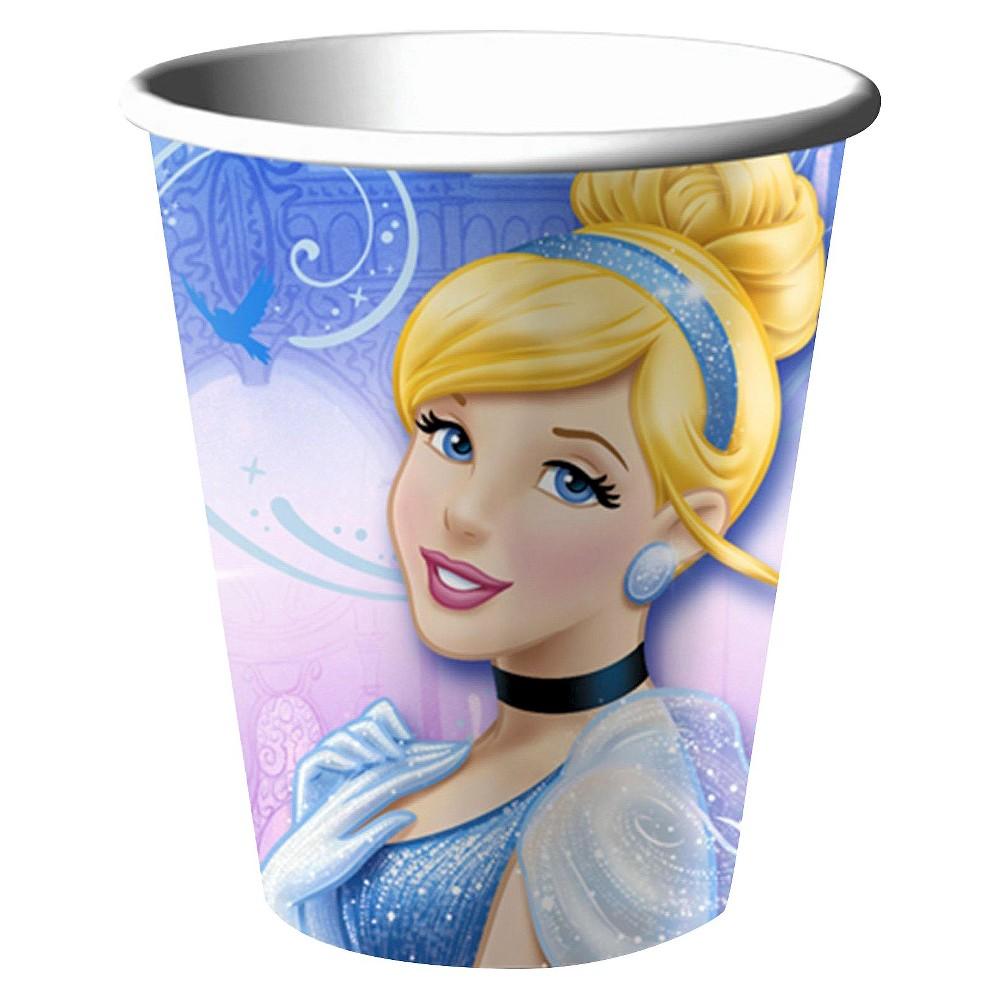 Disney Cinderella Sparkle Party 9oz Paper Cups - 8 count
