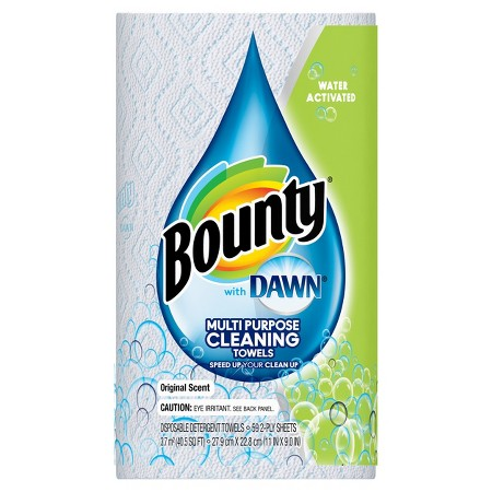 Bounty with dawn water activated detergent towels 1 roll bounty