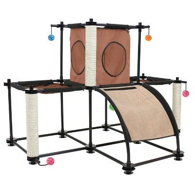 Kitty City Skyline Pet Furniture - Multicolored