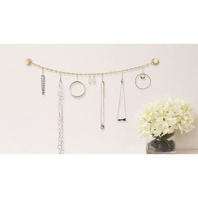 Wall Mounted Jewelry Organizer Metal BRASS C2 2015 Update