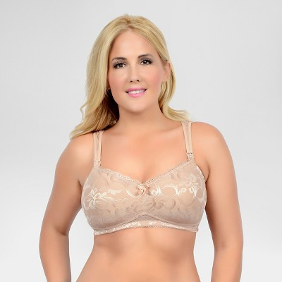 La Leche League Women's Full Coverage Nursing Bra - Nude 38D