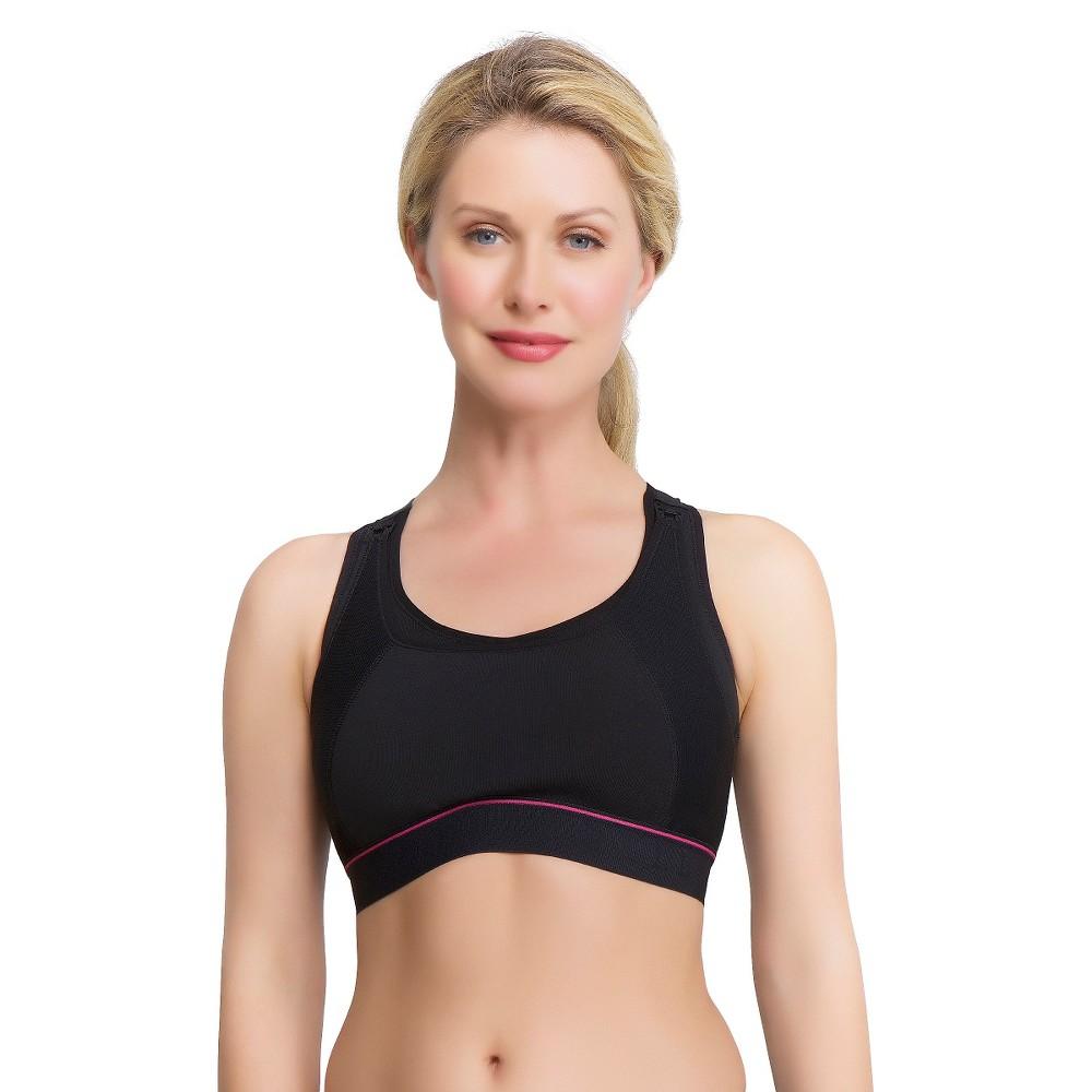 La Leche League Women's Nursing Sports Bra - Black L, Size: Large