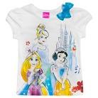 Disney® Princess Toddler Girls Tee - True White