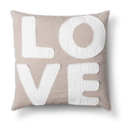 Love Decorative Pillow - Tan