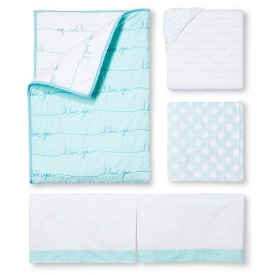Crib Bedding Set Circo Aqua