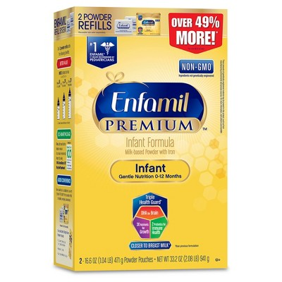 Enfamil PREMIUM Infant Formula Powder Refill Box - 33.2oz (4 Pack)