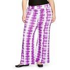 Women's Plus Size Palazzo Pants Purple Tie Dye- Ava & Viv