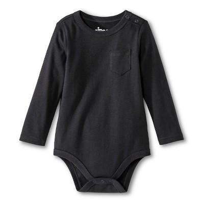 Newborn Boys' Bodysuits Charcoal 18 M