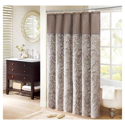 Ecom Shower Curtain Stripe Tan