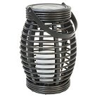 Rattan Solar Lantern Pagoda Dark Brown Large - Threshold™