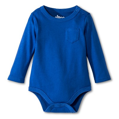 Newborn Boys' Bodysuits Blue 0-3 M