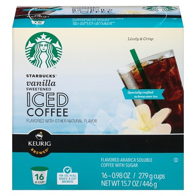 Keurig Starbucks Vanilla Iced Coffee K-Cup 16 ct