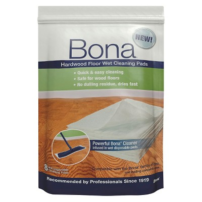 Bona Hardwood Floor Unscented Wet Cleaning Pads - 8 Count