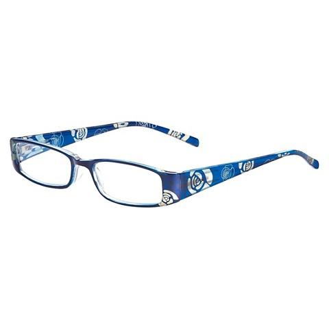 ICU Eyewear Reading Glasses - Blue Crystal Rose : Target