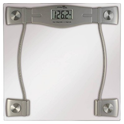 Precision One LCD Digital Glass Bath Scale Clear Target .