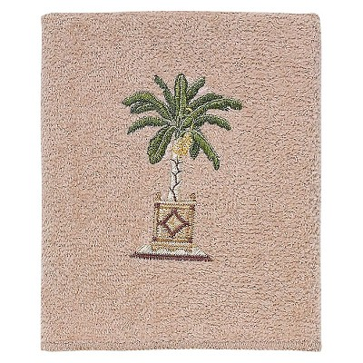 Avanti Banana Palm Washcloth - Linen