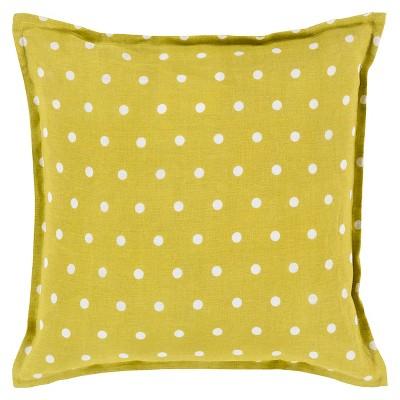 "Galini Polka Dot Pillow 18"" x 18"""