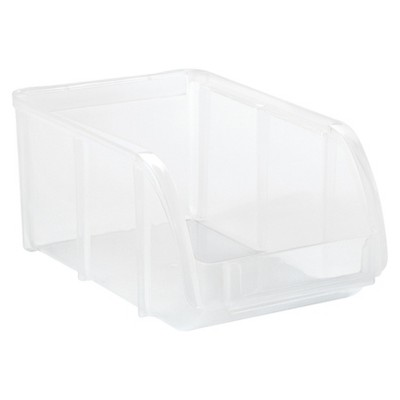 IRIS Small Stacking Bin, Clear - 12 Pack