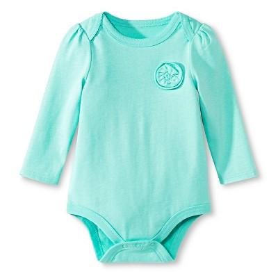 Newborn Girls' Child Bodysuit Green 0-3 M