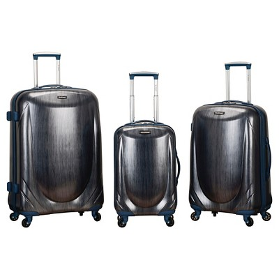 Rockland Hyperspace 2pc Polycarbonate Spinner Luggage Set - Blue