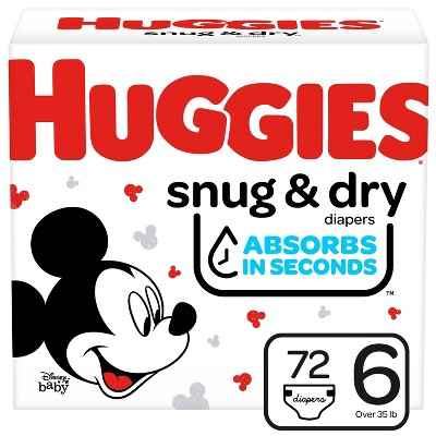 HUGGIES® Snug & Dry Diapers Super Pack - Size 6  (80 Count)