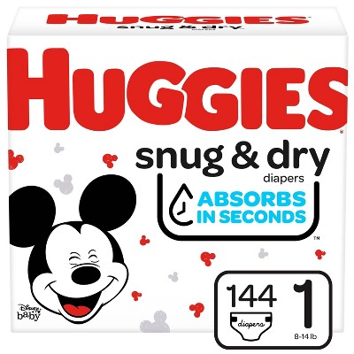 HUGGIES® Snug & Dry Diapers Super Pack - Size 1  (148 Count)