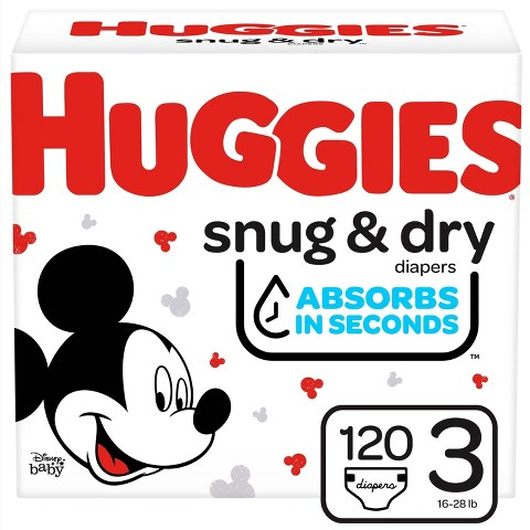 HUGGIES® Snug & Dry Diapers Super Pack - Size 3  (132 Count)