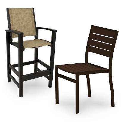 Polywood Euro Patio Dining Chair Collection Tar