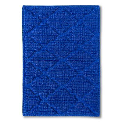"Woven Solid Bath Mat - Dolphin Blue (21x30"") - Threshold™"