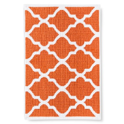 "Woven Bath Mat - Orange Truffle (21x30"") - Threshold™"