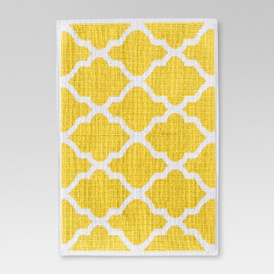 "Woven Bath Mat - Beehive Yellow (21x30"") - Threshold™"