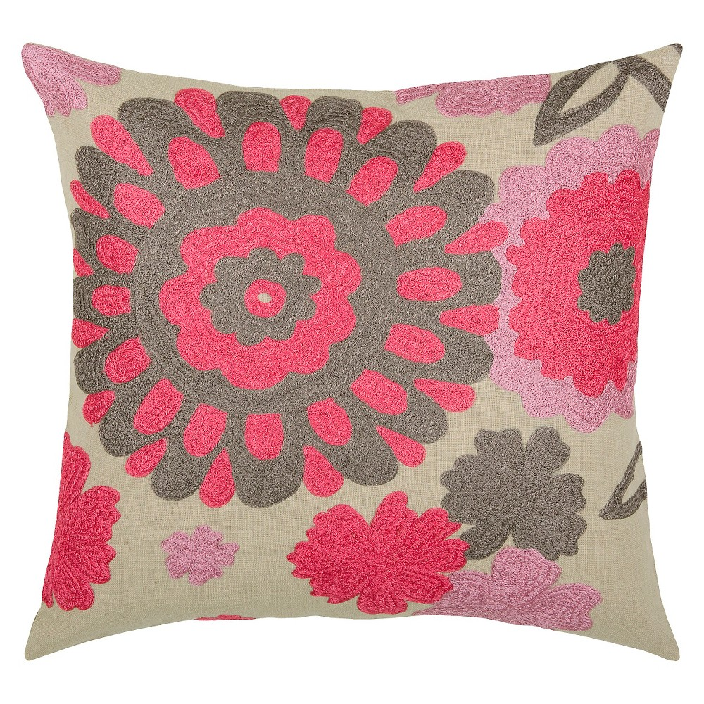 rizzy home knit floral pillow