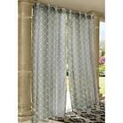 Outdoor Décor Wrought Iron Indoor/Outdoor Sheer Curtain