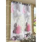 """Outdoor Décor Zen Rocks Indoor/Outdoor Sheer Curtain Panel - Pink (54""""x96"""")"""