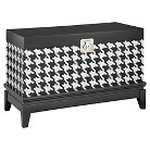 Houdstooth Accent Chest - Black