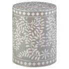 Mosaic Drum Table - Grey